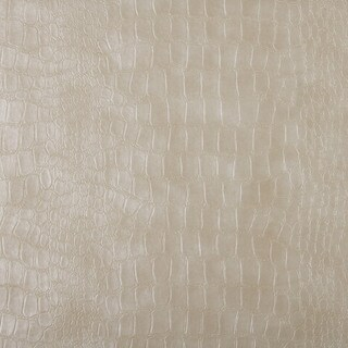 G392 Cream Alligator Look Faux Leather Upholstery