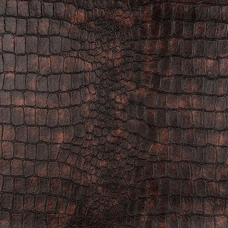G393 Bronze Alligator Look Faux Leather Upholstery