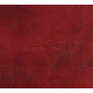 G493 Red Distressed Leather Look Upholstery Bonded Leather
