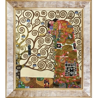 Gustav Klimt 'Fulfillment' (Luxury Line) Hand Painted Framed Canvas Art