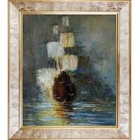Justyna Kopania 'Nostalgy' Hand Painted Framed Canvas Art