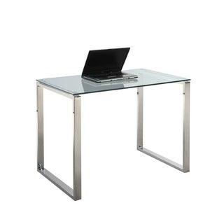 Somette Gloss White Small Computer Desk