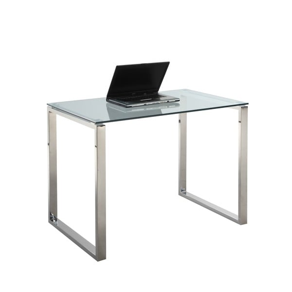 shop somette gloss white small computer desk free shipping today overstock 10274263. Black Bedroom Furniture Sets. Home Design Ideas