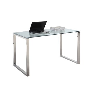 Somette Gloss White Home Office Computer Desk