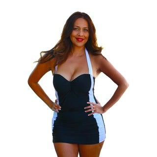 CaCelin Women's Retro Black One Piece