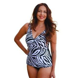 CaCelin Women's Zebra Tankini