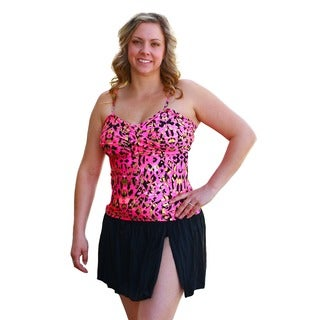 CaCelin Women's Pink Cheetah Print Skirtini