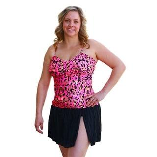 CaCelin Women's Pink Cheetah Print Skirtini
