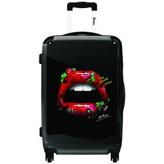 iKase Tattoo Lips 20-inch Hardside Carry On Spinner Upright Suitcase