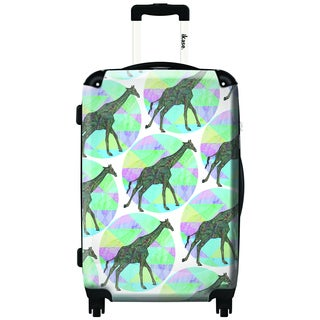 iKase Rhythmic Giraffe 20-inch Carry On Hardside Spinner Suitcase