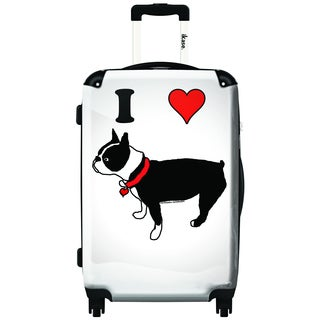 iKase I Heart 20-inch Carry On Hardside Spinner Suitcase