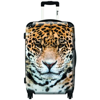 iKase Leopard 20-inch Carry On Hardside Spinner Suitcase