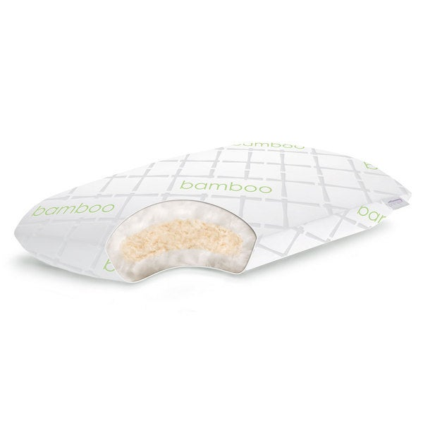 Linenspa Rayon from Bamboo Shredded 100-percent Natural Talalay Latex with Gel Fiber Pillow