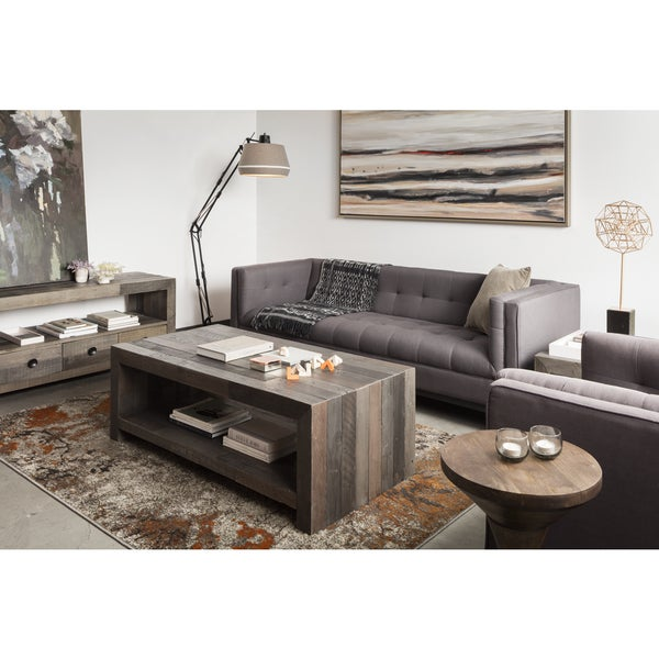 Aurelle Home Distressed Vintage Wash-finish Coffee Table