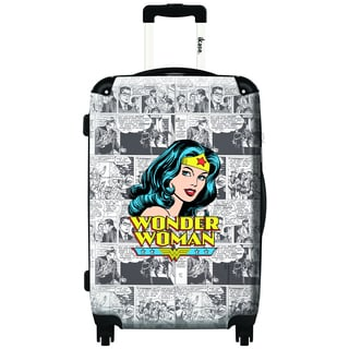 iKase Wonder Woman News 20-inch Carry On Hardside Spinner Suitcase
