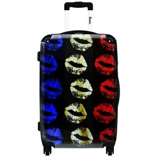 iKase Lips,Carry-on 20-inch,Hardside, Spinner Suitcase