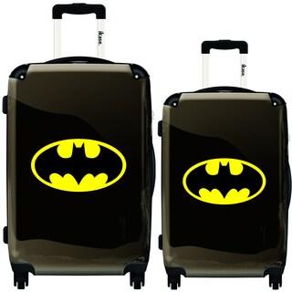 iKase Yellow Batman 2-piece Hardside Spinner Luggage Set