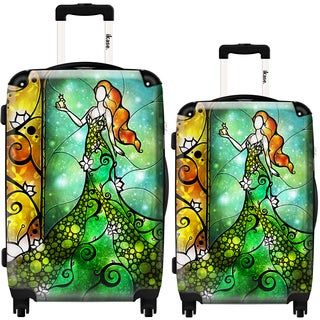 iKase Ivy Mermaid Art 2-piece Hardside Spinner Luggage Set