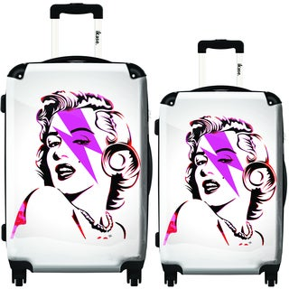 "iKase ""Marilyn Forever"" 2-piece Hardside Spinner Luggage Set"