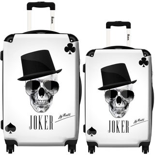 iKase Joker Skull 2-piece Hardside Spinner Luggage Set