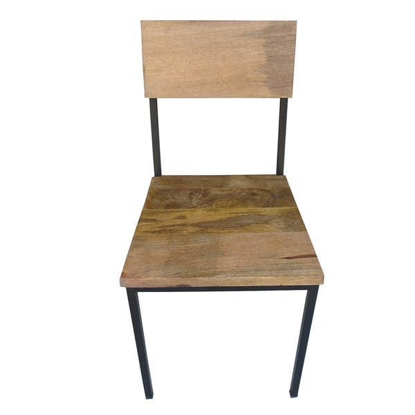 Outstanding Shop Handmade Mango Wood And Metal Chair Set Of 2 36 X Camellatalisay Diy Chair Ideas Camellatalisaycom