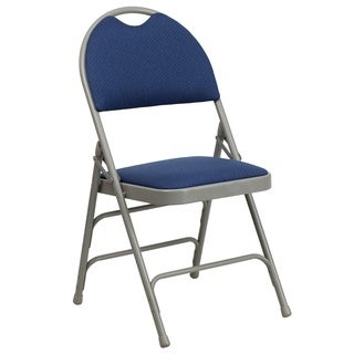 Anemone Blue Folding Chairs with Handle Grip