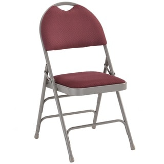 Anemone Burgundy Folding Chairs with Handle Grip