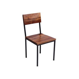 Timbergirl Seesham Wood and Metal chair-Set of 2