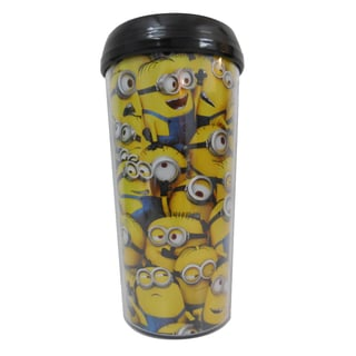 Despicable Me Cluttered Minions 16-ounce Plastic Travel Mug