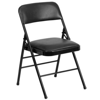 Azalea Black Folding Chairs