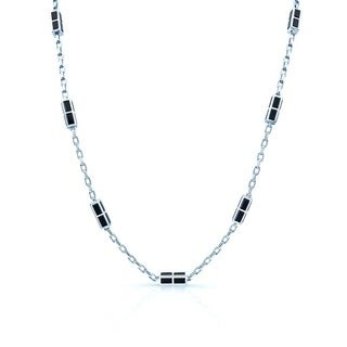 Estie G 18k White Gold Black Onyx 3-strand Necklace