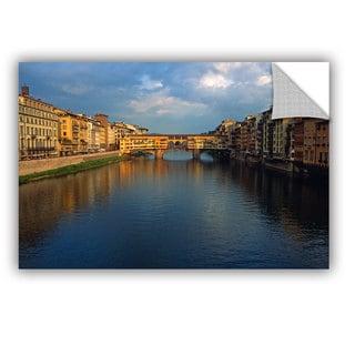 ArtAppealz Kathy Yates 'Ponte Vecchio Sunset' Removable Wall Art