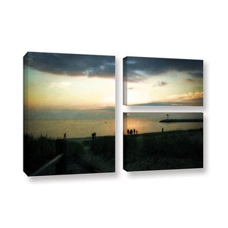 ArtWall Kevin Calkins ' Last Night 3 Piece ' Gallery-Wrapped Canvas Flag Set