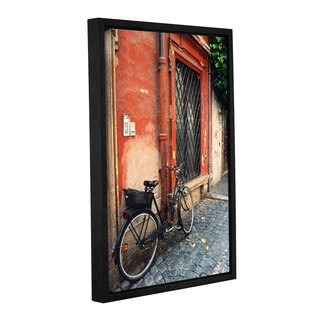 ArtWall Kathy Yates 'La Bicicletta ' Gallery-wrapped Floater-framed Canvas