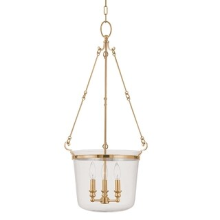 Hudson Valley Quinton 3-light Pendant, Aged Brass