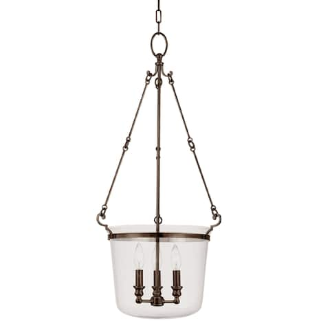 Hudson Valley Quinton 3-light Pendant, Old Bronze