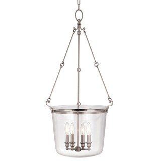 Hudson Valley Quinton 4-light Pendant, Polished Nickel