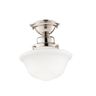 Hudson Valley Edison Collection 1-light Semi Flush, Polished Nickel