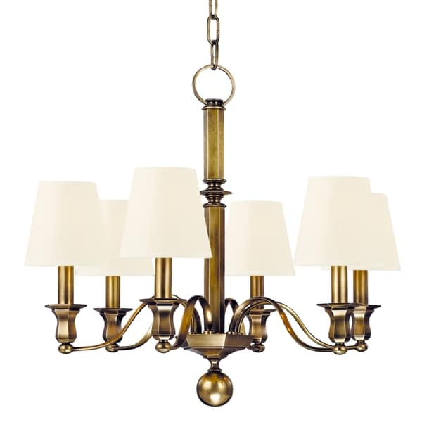 Hudson Valley Lighting Website: Shop Hudson Valley Charlotte 6-light Chandelier, Aged