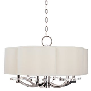 Hudson Valley Garrison 6-light Chandelier, Polished Nickel