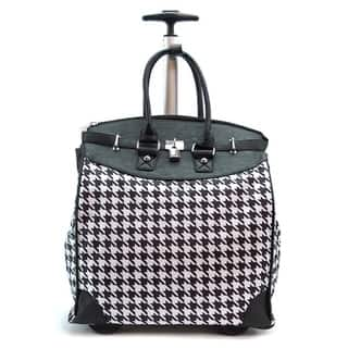 Classic Black Houndstooth Foldable Rolling Carry-on 14-inch Laptop/ Tablet Tote Bag|https://ak1.ostkcdn.com/images/products/10274859/P17391241.jpg?impolicy=medium