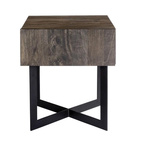 Aurelle Home Tinett Modern Storage Side Table