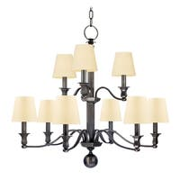 Hudson Valley Charlotte 9-light Chandelier, Old Bronze