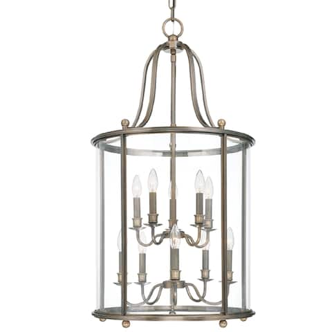 Hudson Valley Mansfield 10-light Pendant, Distressed Bronze