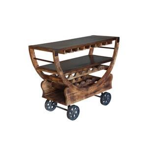 Treasure Trove Accents Medium Mango and Bronze Bar Trolley