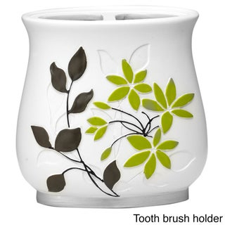Flor Verde Green and White Bath Accessory Collection (More options available)