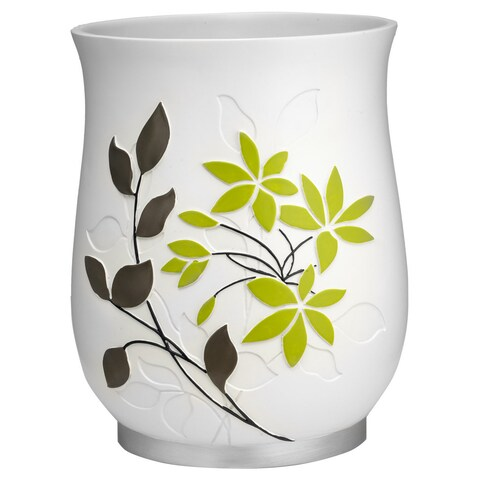Flor Verde Green and White Bath Accessory Collection