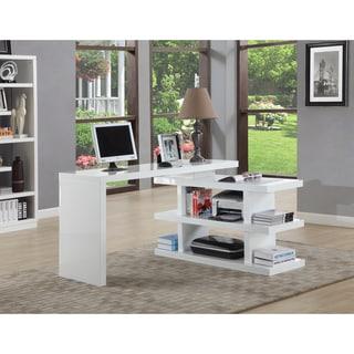 Somette Gloss White Motion Home Office Desk