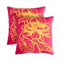 Slumber Shop Fleur Decorative 18-inch Throw Pillow (Set of 2)