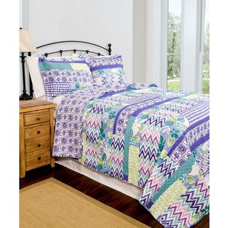 Slumber Shop Melrose Reversible 3-piece Quilt Set
